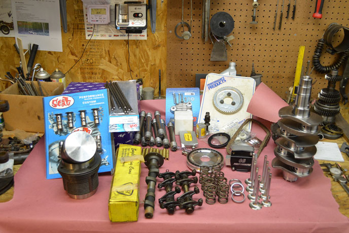 1973 Super Beetle 5 parts for first engine build