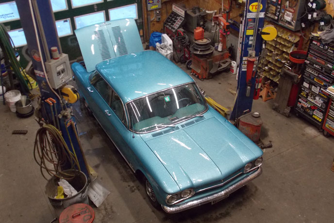 Corvair service shop