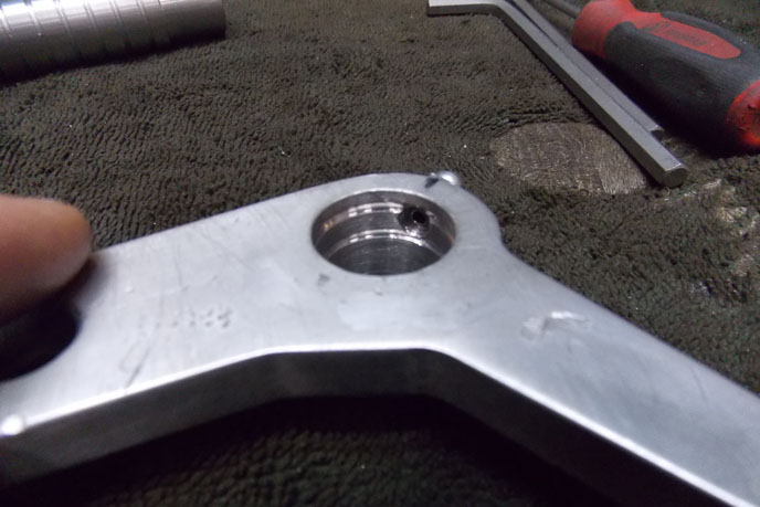 Custom shifter for Triton motorcycle