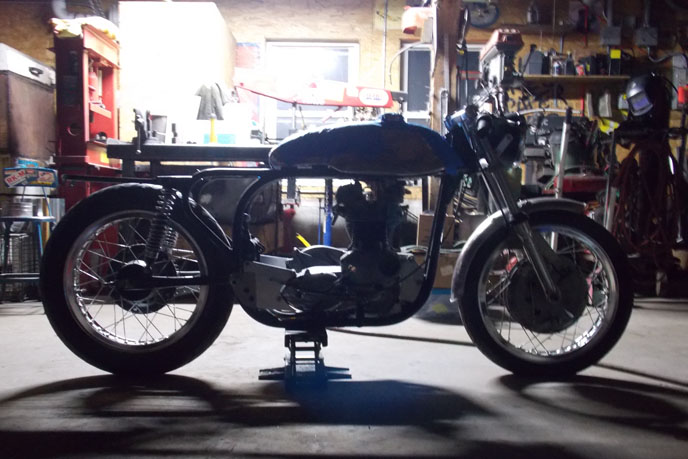 Custom Work Triton motorcycle