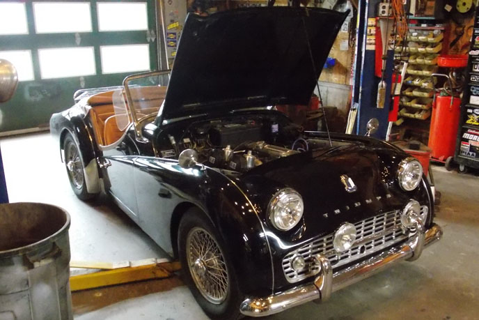 Triumph TR3 maintenance and repair